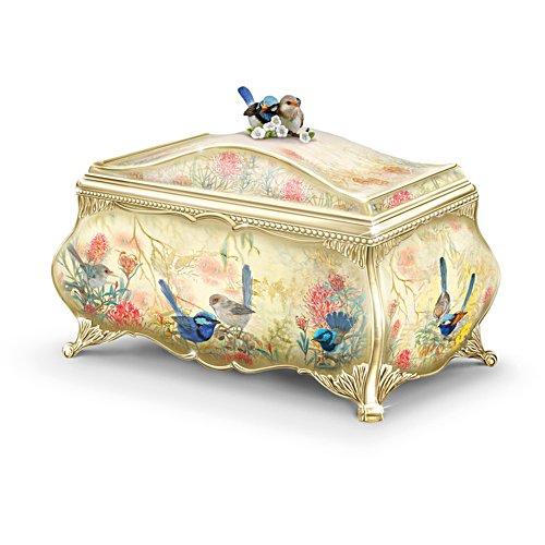 Fairy Wren Serenade' Heirloom Porcelain® Music Box