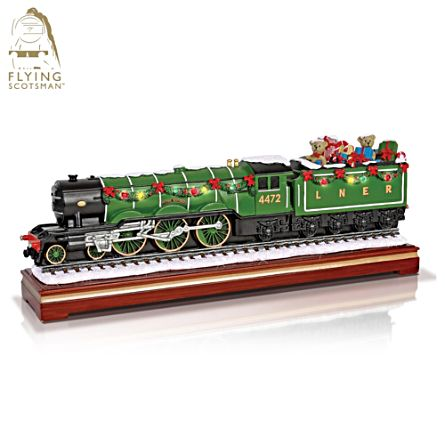Flying Scotsman 'Christmas Express' Musical Locomotive Sculpture