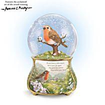 'Messenger From Heaven' Glitter Globe