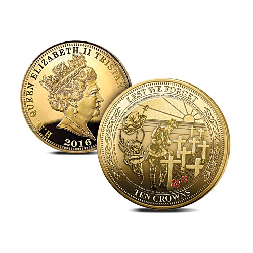 The 'Lest We Forget'  Ten Crowns Golden Coin