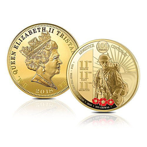 Centenary Of The Great War Armistice Ten Crowns Coin