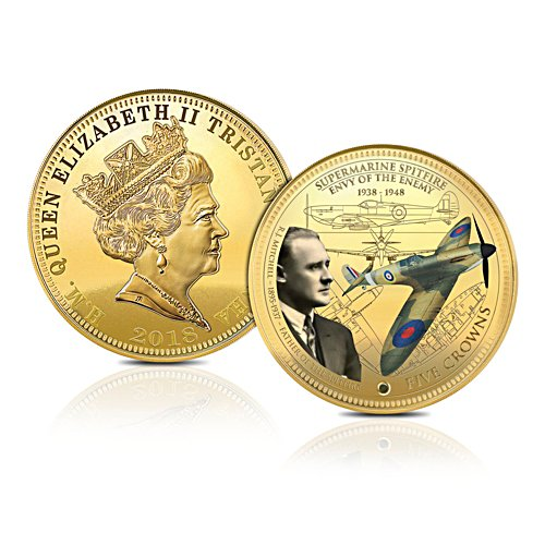 The 80th Anniversary Spitfire Aircraft Five Crowns Coin