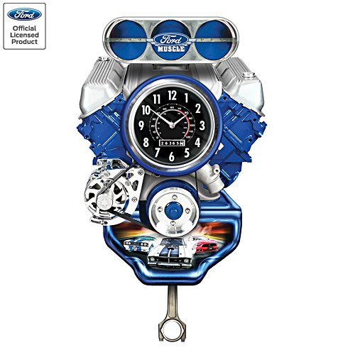 Ford Muscle Engine Clock
