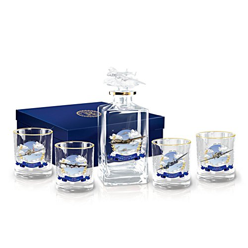 'Heroes Of The Sky' WWII Decanter Set