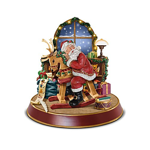 'Sweet Dreams, Dear Santa Claus' Illuminated Sculpture