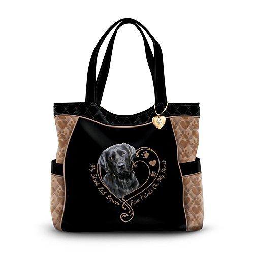 'Paw Tracks Touch My Heart' Labrador Ladies' Handbag