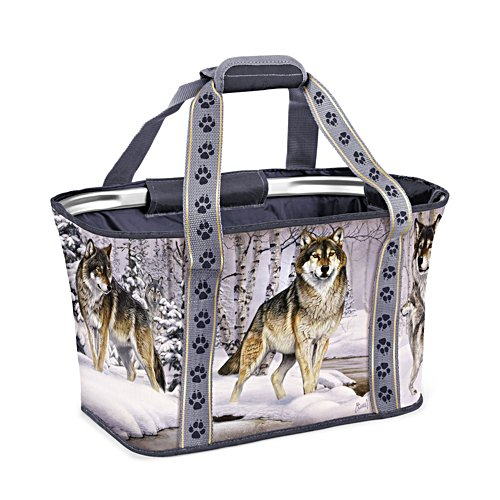 Al Agnew 'Companions Of The Wild' Wolf Shopping Basket