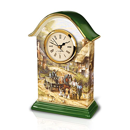 'Country Days' Heirloom Porcelain® Carriage Clock