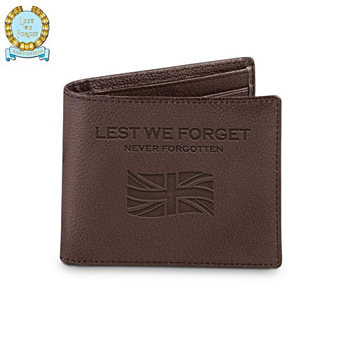 Lest We Forget Men's Leather Wallet