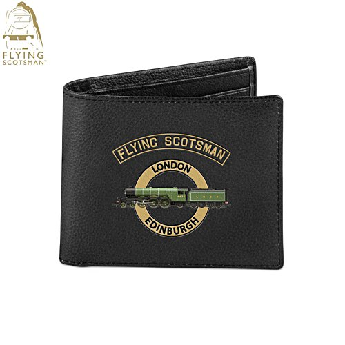 Flying Scotsman 'Legend Of Steam' Men's Leather Wallet