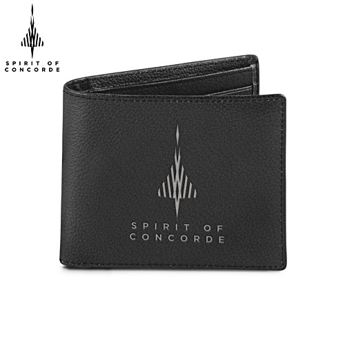 'Spirit Of Concorde' Men's Leather Wallet