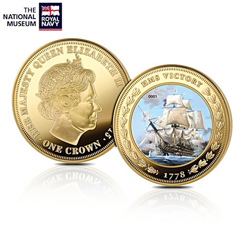 'HMS Victory' Golden Commemorative Crown Coin