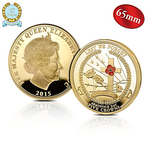 The 'Lest We Forget Armistice Day' Five Crowns Coin