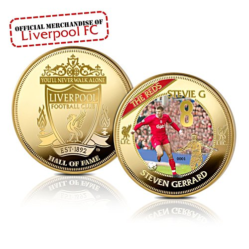 'Steven Gerrard' Hall Of Fame Golden Commemorative
