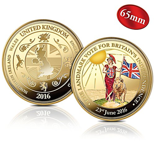 'UK EU Referendum' 65mm Oversized Commemorative