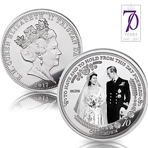 The Royal Platinum Wedding Anniversary Photographic Crown