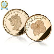 Official Lest We Forget WWI Centenary Gold Quarter Sovereign