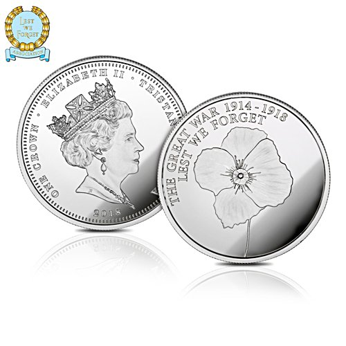 The Official Lest We Forget WWI Centenary Solid Silver Crown  Coin