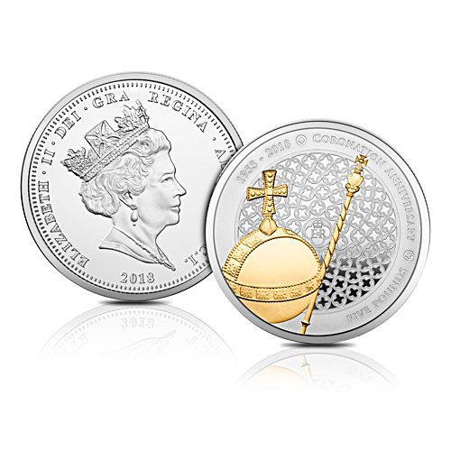 "The 2018 Queen's Sapphire Coronation Jubilee Solid Silver Coin - ""Struck on the Day"""