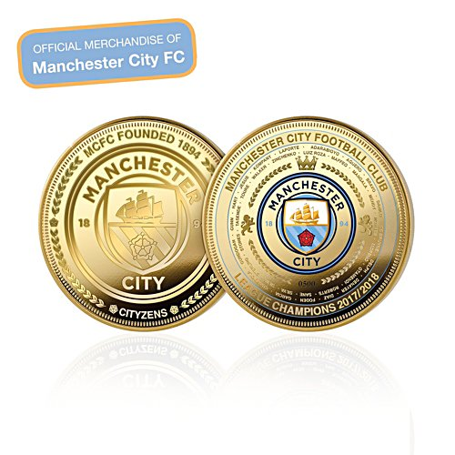 Manchester City FC League Champions Gold-Plated Commemorative