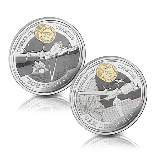 The Dambusters 75th Anniversary Solid Silver Coin Set