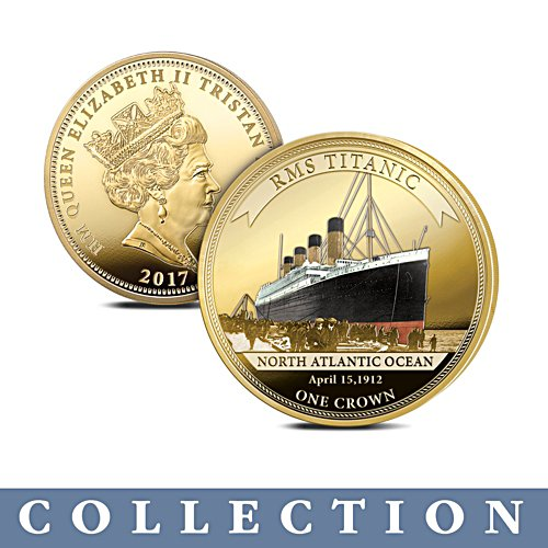 'The Legendary Shipwrecks' Golden Crown Coin - Uniquely Numbered Edition
