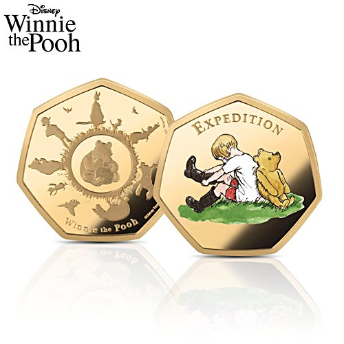 The Disney Winnie The Pooh Solid 24 Carat Gold Commemorative Coin