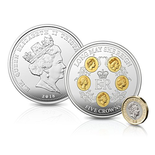 The Long May She Reign 'struck-on-the-day' Five Crowns Coin