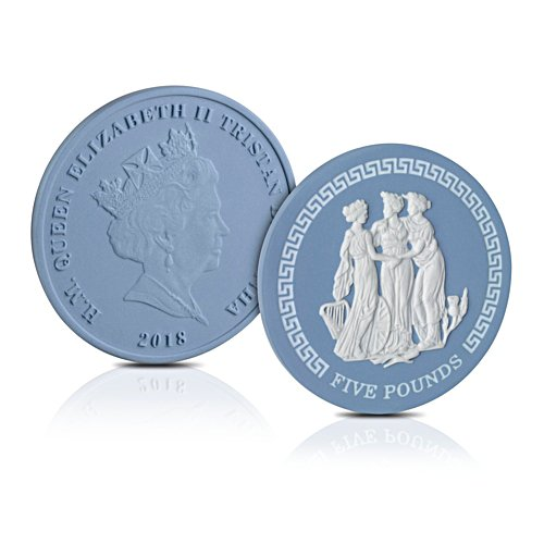 The World's First Wedgwood Jasperware Legal Tender £5 Coin