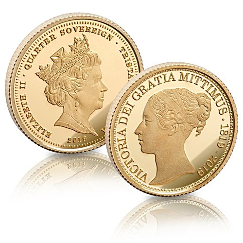 The Queen Victoria Bicentenary Gold Quarter Sovereign - BU edition