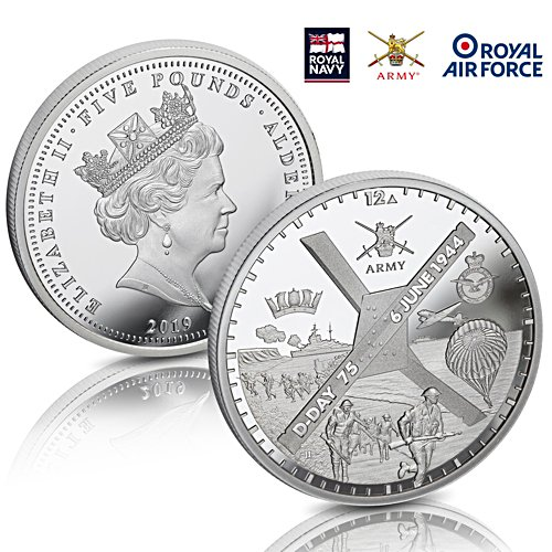The D-Day 75th Anniversary £5 Coin - officially licensed by the Ministry of Defence
