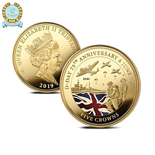 D-Day 75th Anniversary Commemorative Five Crowns Coin