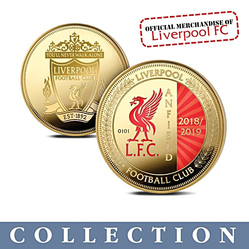 Liverpool FC 2018-2019 Gold-Plated Commemorative