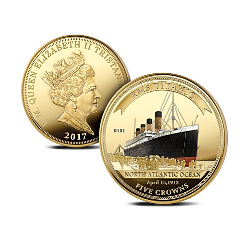RMS Titanic Five Crowns Coin