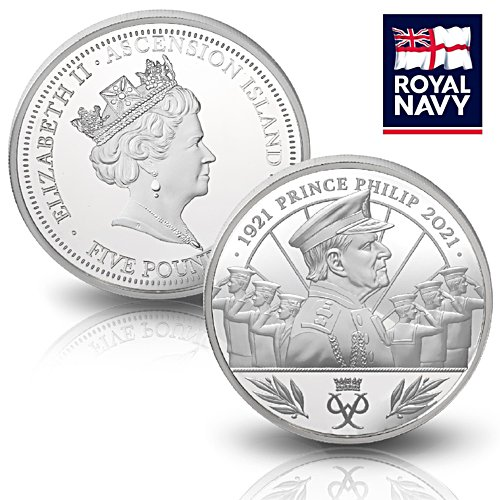 The Official Prince Philip Memorial Salute £5 Coin