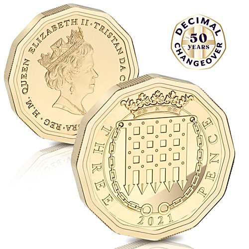 The Anniversary Edition 'Thruppeny Bit'  marks 50  years since Britain went decimal!