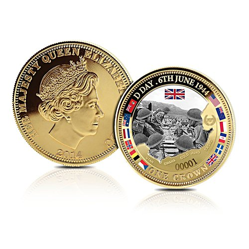 'The D-Day Landing' Golden Crown Coin