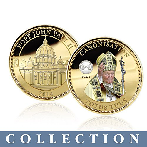 'The Holy Journey of Pope John Paul II' Medallion Collection