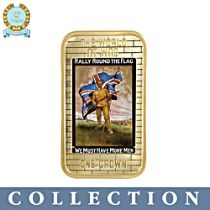 'WWI Iconic Posters' Ingot Coin Collection
