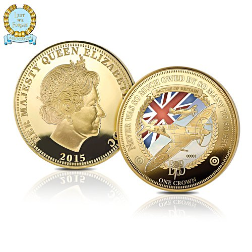 The Battle Of Britain 'The Few' Golden Crown Coin