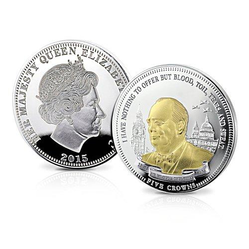 Winston Churchill 50th Anniversary Five Crowns Coin