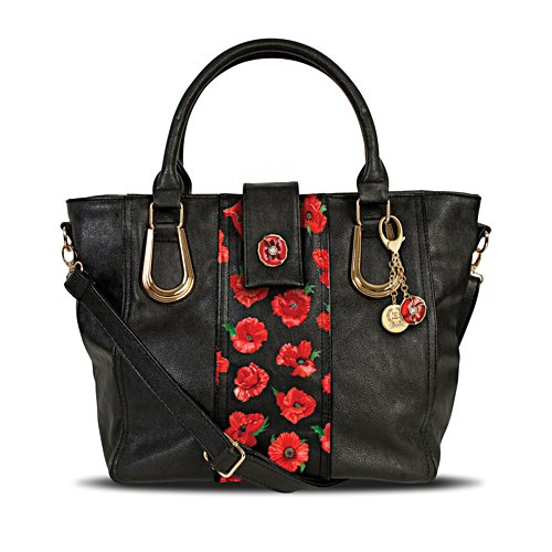 'Thoughts Of Remembrance' Poppy Art Handbag