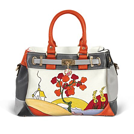 Clarice Cliff-Inspired Tri-Colour Handbag