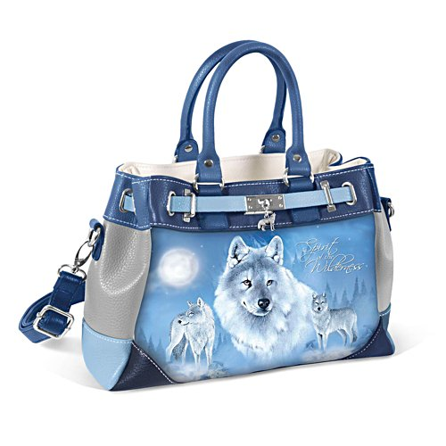 Eddie Le Page 'Spirit Of The Wilderness' Wolf Handbag