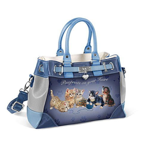 'Pawprints On Your Heart' Art Handbag