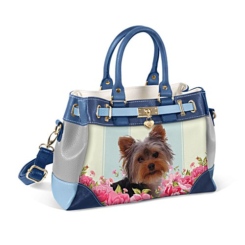Yorkie 'Playful Pup' Ladies' Handbag