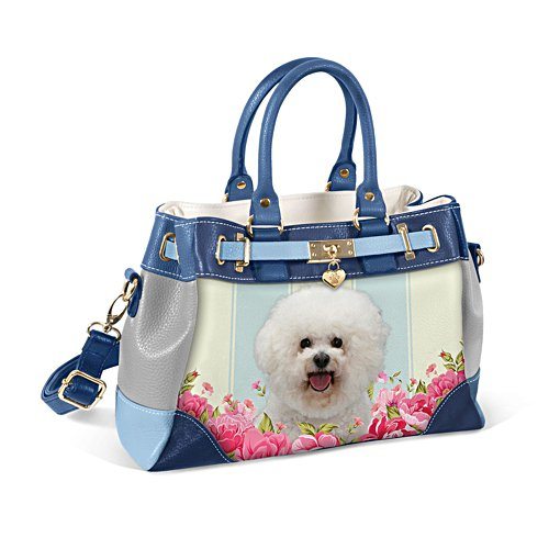 Bichon Frise 'Playful Pup' Ladies' Handbag
