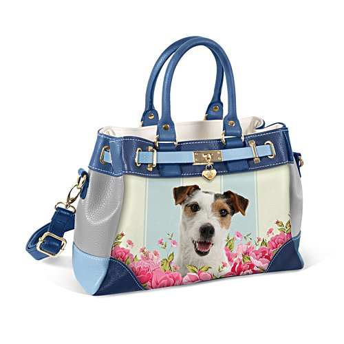 Jack Russell 'Playful Pup' Ladies' Handbag