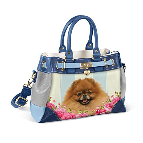 Pomeranian 'Playful Pup' Ladies' Handbag