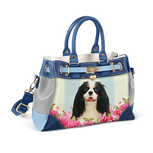 King Charles Spaniel 'Playful Pup' Ladies' Handbag